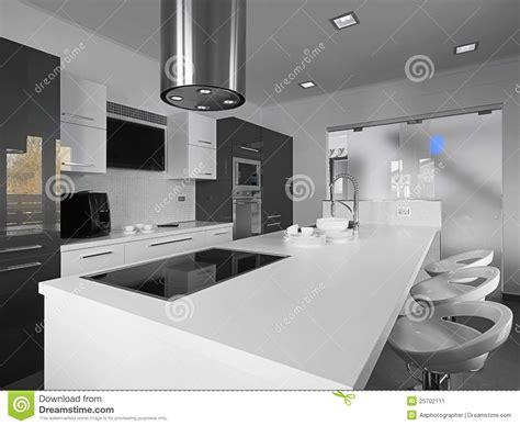 cuisine en noir et blanc cuisine moderne en noir et blanc image stock image 25702111