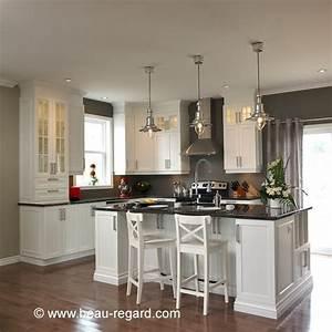Pinterest Cuisine : armoires de cuisine blanches en m lamine polyester ~ Carolinahurricanesstore.com Idées de Décoration