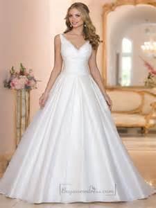 v neck wedding dresses straps a line v neck and v back wedding dresses 2198564 weddbook
