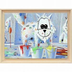 Image D Enfant : d co chambre enfant b b toile chat les 4 pieds dans la peinture ~ Dallasstarsshop.com Idées de Décoration