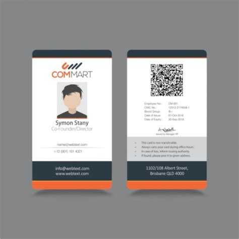 id card templates psd eps ai word