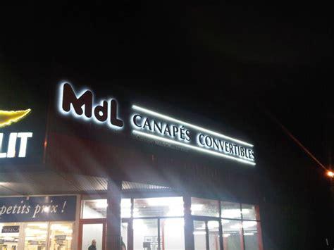 mdl canapé convertible led sgk enseignes