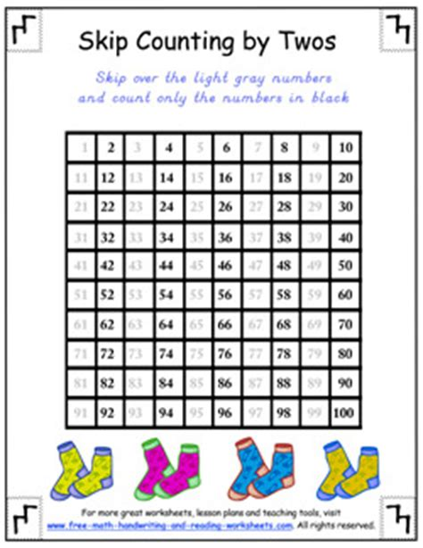 counting by twos worksheets