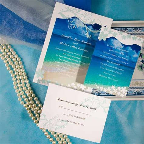 beach theme wedding invitations ideas wedding  bridal