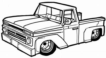 Truck Drawing Draw Pickup Chevelle Ss Classic