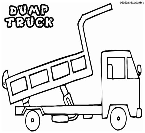 dump truck coloring pages coloring pages    print
