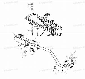 Polaris Atv 2001 Oem Parts Diagram For Exhaust System