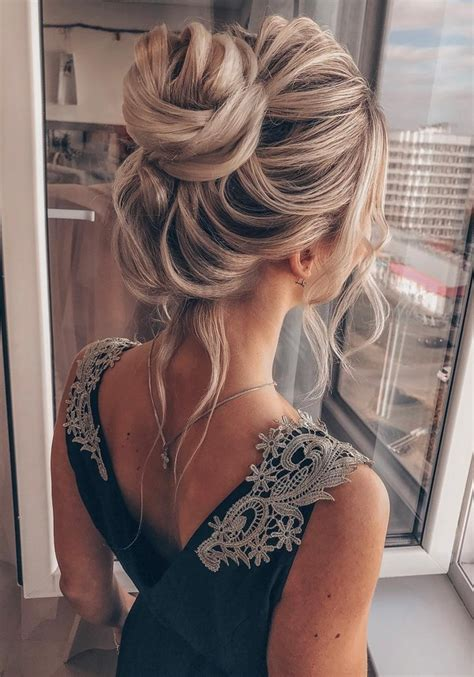 20 High Bun Wedding Updo Hairstyles for Long Hair Oh The