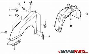Car Fender Diagram : 12797541 saab front fender rh 03 07 saab parts from ~ A.2002-acura-tl-radio.info Haus und Dekorationen