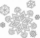 Coloring Snowflake Pages Printable sketch template