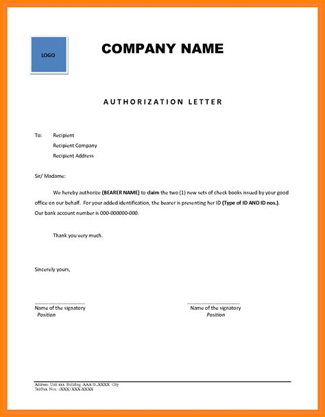 authorization letter business mentor