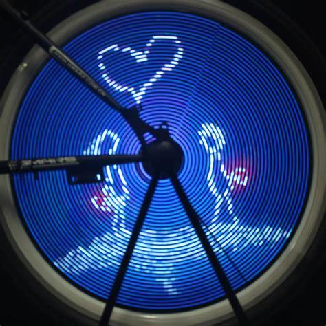 led bike wheel lights 216 led programmable diy bicycle wheel light bike wheel