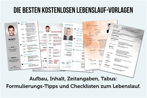 Gratis Vorlage Lebenslauf by Lebenslauf Schreiben 45 Gratis Vorlagen Anleitung Tipps