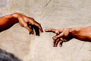 two greatest hands ever: The Creation of Adam-Michelangelo ...
