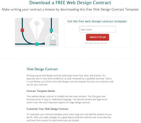find web design contract templates  web design