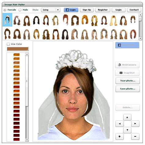 virtual hairstyler online how to use