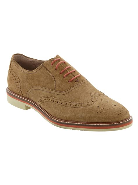 mens light brown oxfords banana republic taylor suede oxford light brown in brown