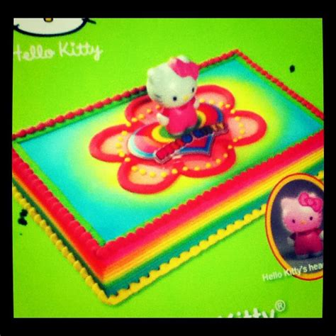 kitty rainbow birthday cake spotted  price choppe