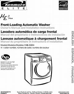 Kenmore Elite 11045801400 User Manual Washer Manuals And