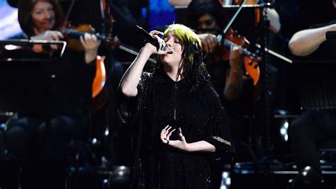 Brit Awards: Billie Eilish Performs James Bond Theme Song ...