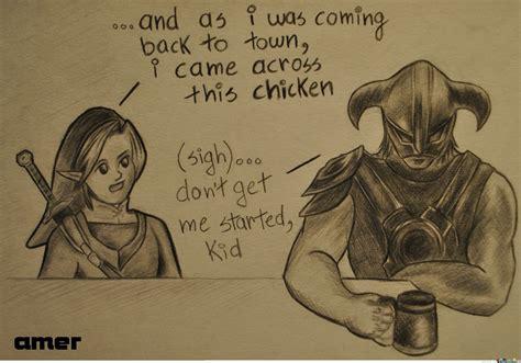 Dragonborn Meme - link and dragonborn sharing war stories by amer amer meme center