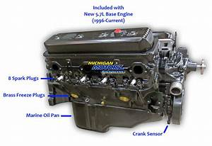 5 7l Vortec Volvo Penta Base Marine Engine  1996