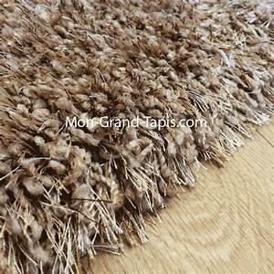grand tapis shaggy rond beige sur mesure par mon grand With tapis shaggy sur mesure