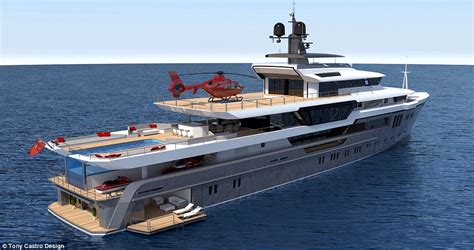Yacht With Helipad by Superyacht With Helipad Supercar Storage And Infinity