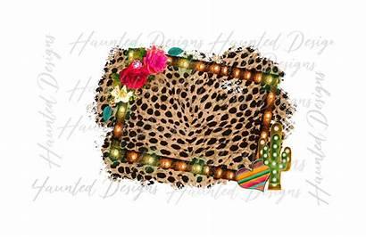 Cactus Leopard Boho Flower Marquee Team Serape