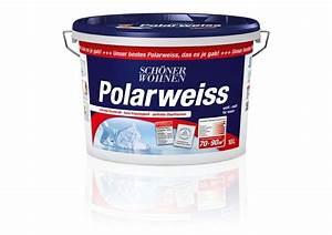 Test Wandfarbe Weiß : test innenfarben wand sch ner wohnen polarweiss sehr gut ~ Lizthompson.info Haus und Dekorationen