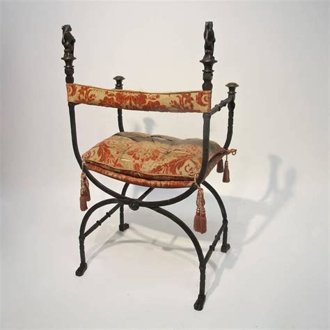 wrought iron savonarola chair for sale at 1stdibs