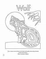 Native American Coloring Pages Symbols Wolf Animal Animals Nations Nation Colouring Printable Ojibway Spirit Haida Wordpress United Getcolorings Awesome Illustrator sketch template