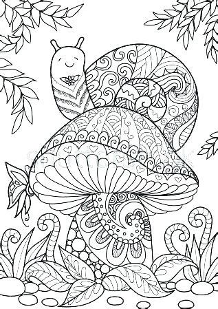 printable mushroom coloring pages  kids