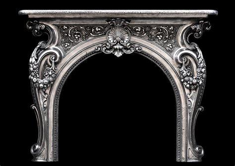 ornate  century french cast iron fireplace