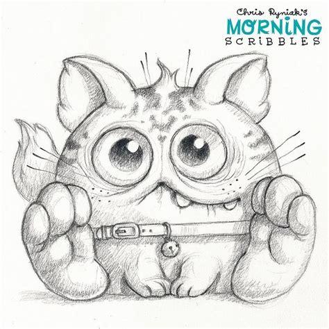 weird cat morningscribbles  chrisryniak morning