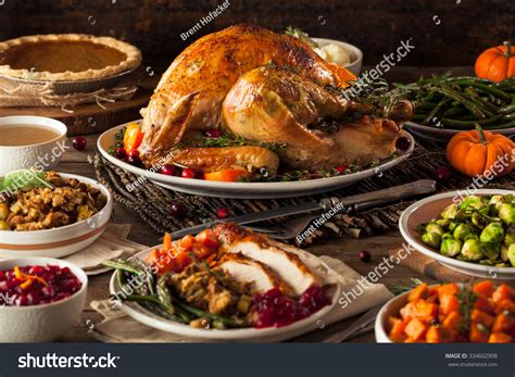 Homemade Roasted Thanksgiving Day Turkey All Stock Photo