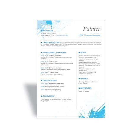 word cv resume template painter