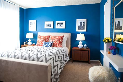 moody interior breathtaking bedrooms  shades  blue