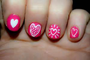 Cute heart designs nails nail for short