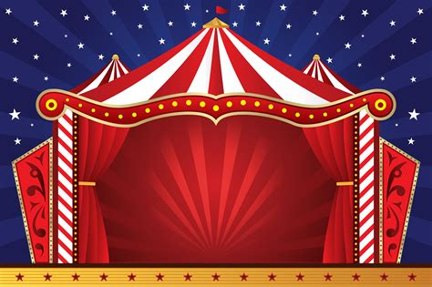 7 Best Images Of Free Circus Printable Background  Vintage Circus Invitation Template Free