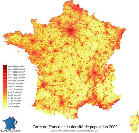 Carte Densité Population 2017 by O 249 Vivent Les Fran 231 Ais La R 233 Partition De La Population En
