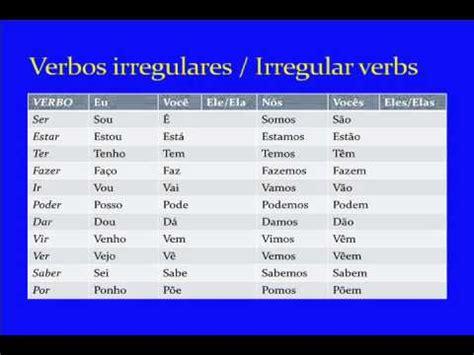 present tense verb conjugations  brazilian portuguese