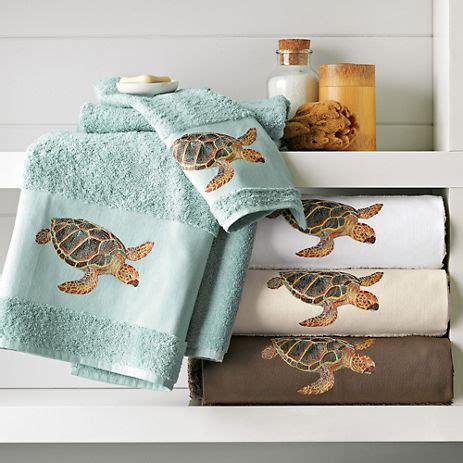 Turtle Bathroom Decor sea turtle towels gump s