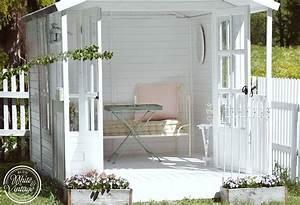Gartenhaus Shabby Chic : romantische deko f r mein wei es gartenhaus deko diy blog white and vintage pinterest ~ Markanthonyermac.com Haus und Dekorationen