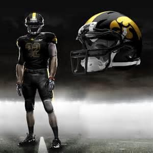 Iowa Hawkeyes Football Uniforms