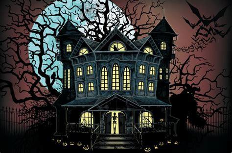 Halloween Horror Haus Spukhaus Wanddeko Halloween