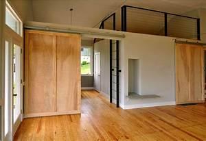 Sliding Barn Doors Interior — Office and Bedroom : Sliding