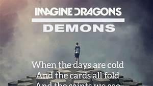 Imagine, Dragons, -, Demons, Lyrics, Ud83c, Udfb5