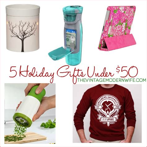 5 unique holiday gift ideas under 50 the vintage modern