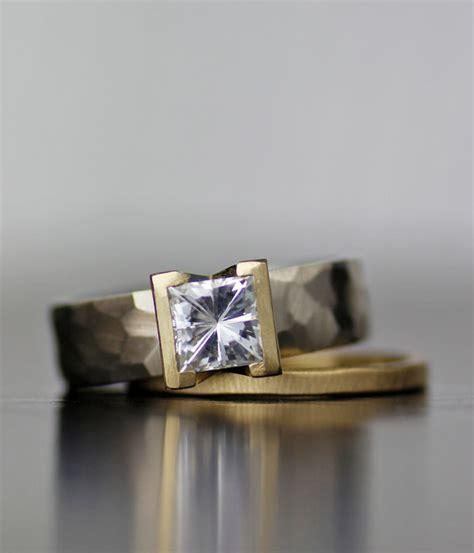 lodestar square moissanite modern engagement ring